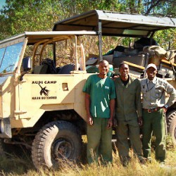 Moremi Camping safari back up vehicle