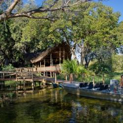 Xigera Camp boat by Dana Allen