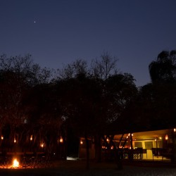 Sango Safari Camp by night