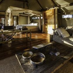 Little Mombo Camp room interior by Dana Allen