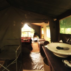 Khwai Tented Camp bathroom