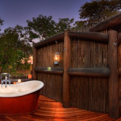 Khwai River Lodge honeymoon suite bathroom