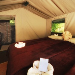 Khwai Tented Camp bedroom