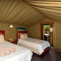 Third Bridge Tented Camp tent interior