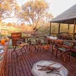 Khwai Tented Camp fire pit
